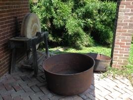 Cast iron kettle at the Waveland slave quarters, Lexington, Kentucky