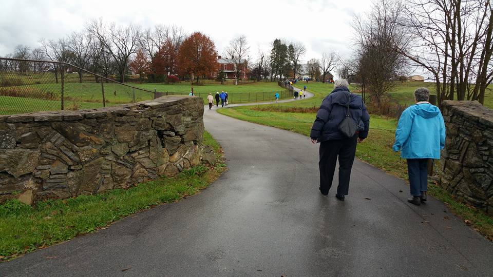walking to charles young house november 2015 OLLI