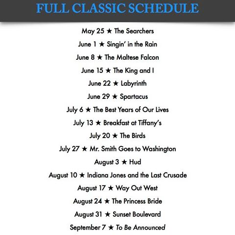 kentucky theatre summer classics 2016