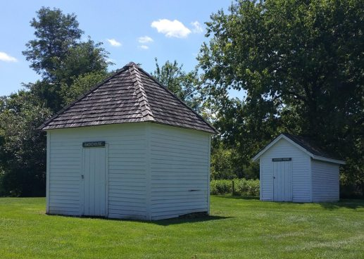 Smoke house and chicken house.
