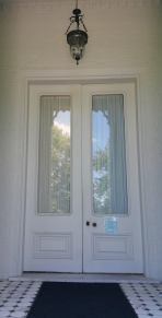 The original entry doors to the 1798 Clermont house, now a wing of White Hall.