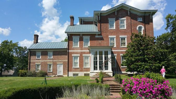 Side view of the mansion from the garden.