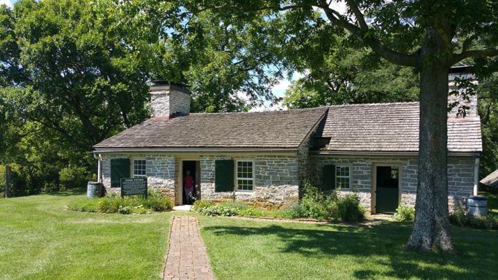 Stone kitchen. 1790. Sleeping quarters in the loft for domestic servants (slaves).