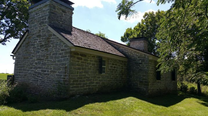 Rear of the stone kitchen.