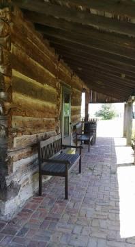 Rear of corn crib/mule barn.