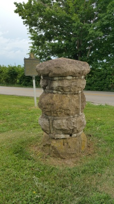 One of the original gate posts